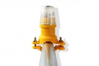 WHI Safeguard White Vertical Mount Safety Lights