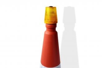 WHI Safeguard Wide Amber Cone Safety Lights CSl-1402