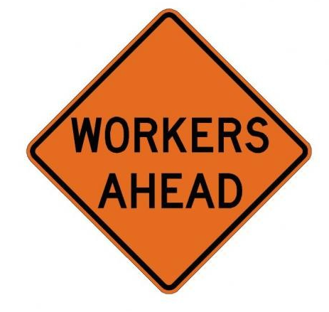 W21-1 Workers Ahead Sign