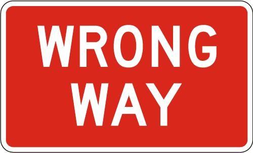 Wrong Way R5-1a