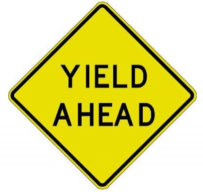 Yield Ahead Sign W3-2A