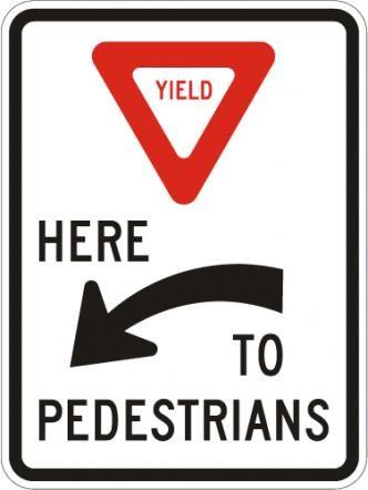 Yield to Pedestrians R1-5aL