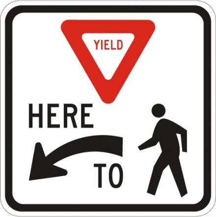 Yield to Pedestrians Here R1-5L