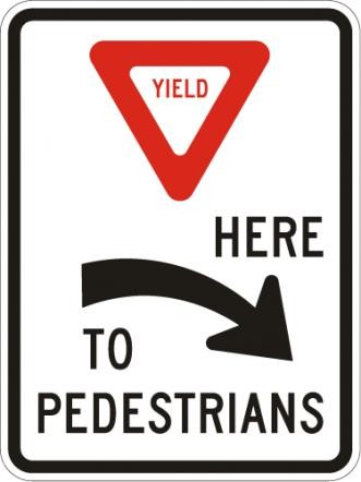 Yield to Pedestrians Right R1-5aR