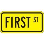 Advance Street Name W16-8