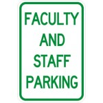 Faculty and Staff Parking Sign AR-107