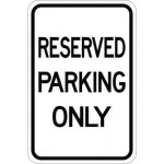 Reserved Parking Only AR-143