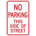 AR-211 No Parking This Side Of Street Sign