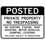 AR-246 Private Property No Trespassing Signs