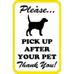 AR-249 Please Pick Up After Your Pet Signs