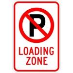 No Park (symbol) Loading Zone Sign AR-735