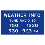 D12-1 Weather Information Signs