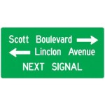 D3-2 Street Name Signs