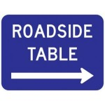 D5-5 Roadside Table Signs