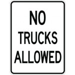 AR-705 No Trucks Allowed Sign