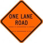 One Lane Road (distance) W20-4