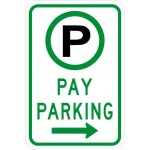 Parking Permitted Pay Parking Sign R7-22