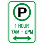 Parking Permitted XX Hour(s) XX AM - XX PM Sign R7-23a
