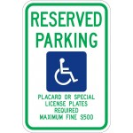 Hawaii Handicap Sign R7-8hi