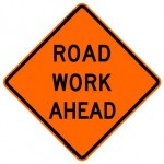 Road Work Ahead Roll-Up Construction Signs W20-1-RU