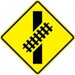 Skewed Railroad Crossing W10-12