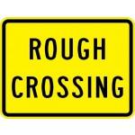 Rough Crossing Plaque W10-15P