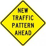 New Traffic Pattern Ahead Sign W23-2