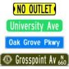 "6"" Street Signs"