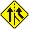 Added Lane Right Sign