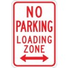 No Parking Loading Zone (arrow)