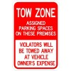 Tow Zone Sign