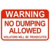Warning No Dumping Allowed