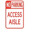 No Park Access Aisle Sign