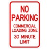 No Parking-Commercial Loading Zone Sign