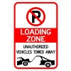 No Parking (symbol) Loading Zone Tow Away Signs AR-231