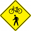 Bicycle and Pedestrian Crossing Sign