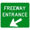 Freeway Entrance With Arrow Sign