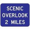 Scenic Overlook Distance Sign