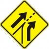 Entering Added Lane Sign