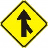 Merge Right Arrow Sign