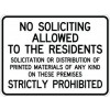 No Soliciting To Residents