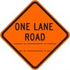 One Lane Road (distance) Sign