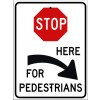 Stop For Pedestrians Right Sign