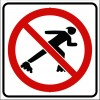 No Skaters Sign