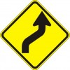 Reverse Curve Right Sign