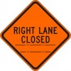 Right Lane Closed (distance) Sign