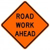Road Work Ahead Roll-Up Construction Signs