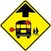 School Bus Stop Ahead Symbol Sign