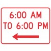 Times of Day (plaque) Sign