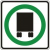 Truck Permitted Sign
